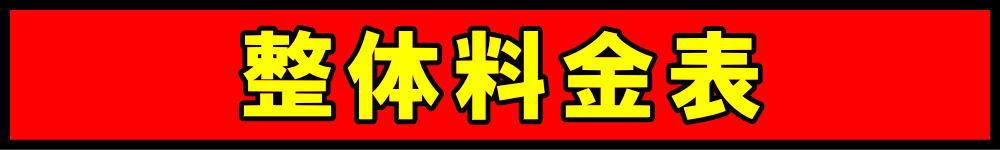 厚別江別の津田整体院料金表