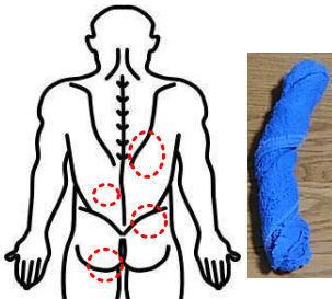 腰痛のゆがみを濡れ雑巾で例えた画像