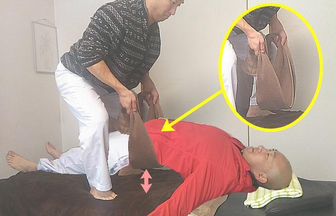 腰反らし矯正画像(腰痛の整体技)