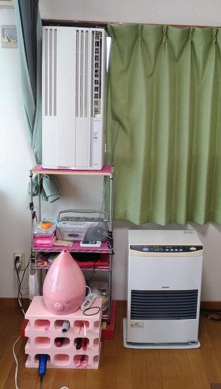 江別新札幌厚別の津田整体院窓用エアコン