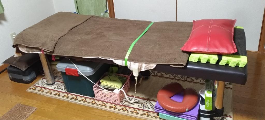 札幌厚別江別の整体院施術ベッド